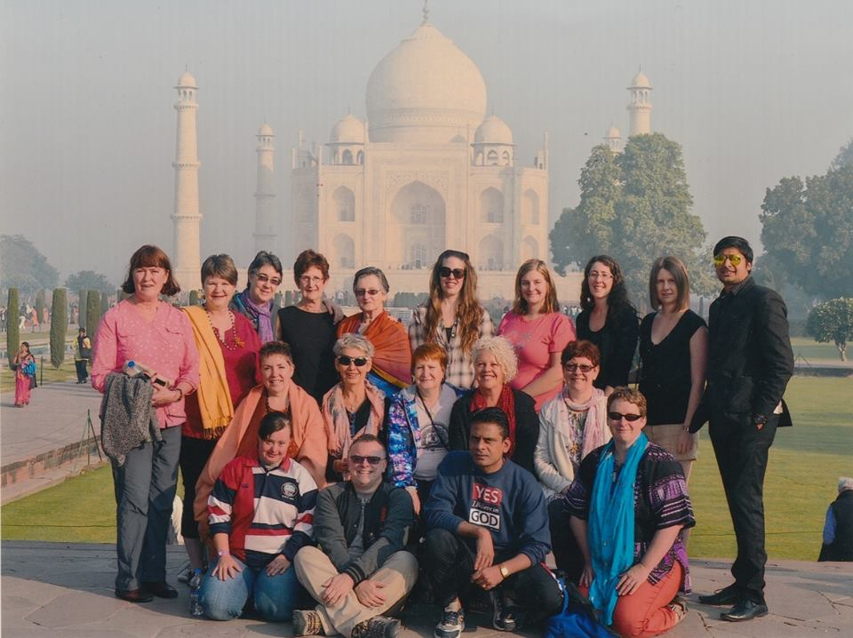 2014 Essence of India tour group at the Taj Mahal in Agra